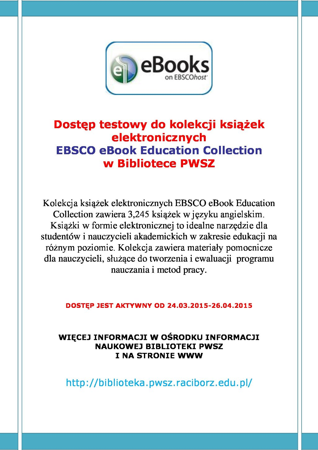 PLAKAT EBSCO eBook